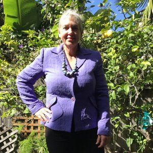 Women's lavender quilted jacket